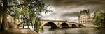 Pont du Louvre et les quais de Seine à Paris