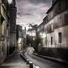 Ambiance d'une ruelle déserte de Paris