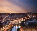 Photographie HDR des toits depuis Notre Dame de Paris