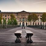 Symétrie du Pont des Arts à Paris